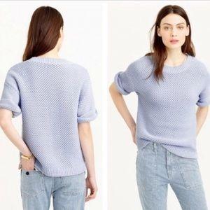 J. Crew Baby Blue Short Sleeve Knit Sweater